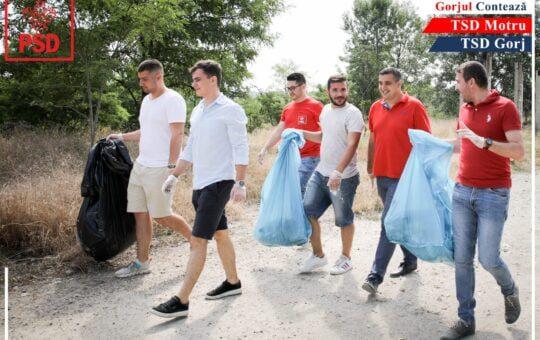 Campanie de ecologizare întreprinsă de PSD Gorj