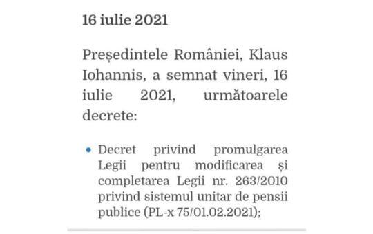 Președintele Iohannis a promulgat legea pentru pensionarea minerilor